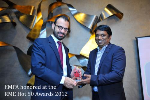 EMPA honored at the RME Hot 50 Awards 2012